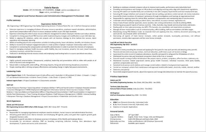 ATS Resume Writing Format