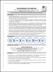 Business Operations Management Sample CV: