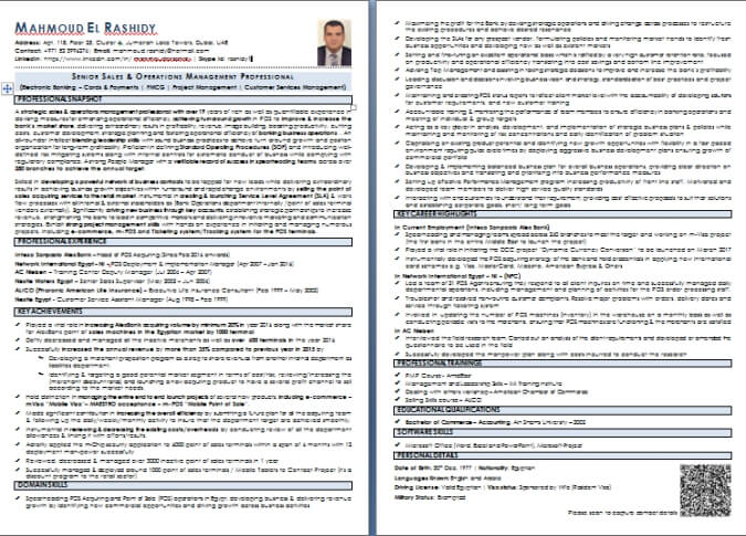 cv writing sample and templates from dubai