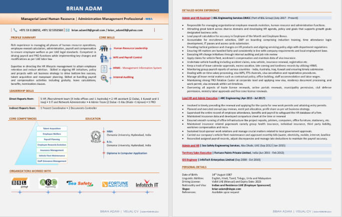 Best Digital Resume Writing Format PDF