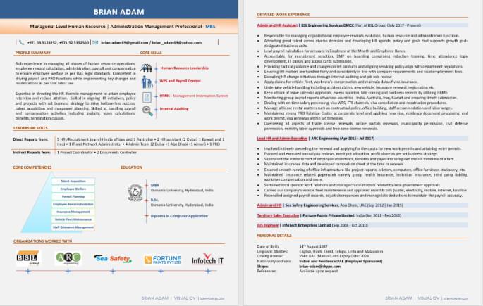 Best Digital Resume Writing Format PDF