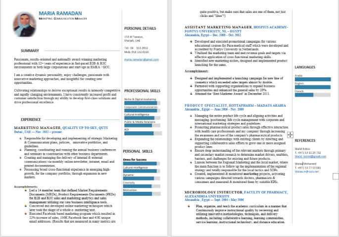 Best Infographic Resume Writing Format for Engineering Students