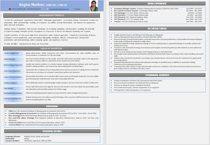 Best Resume Writing Format for Job