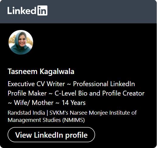 Tasneem LinkedIn Profile URL