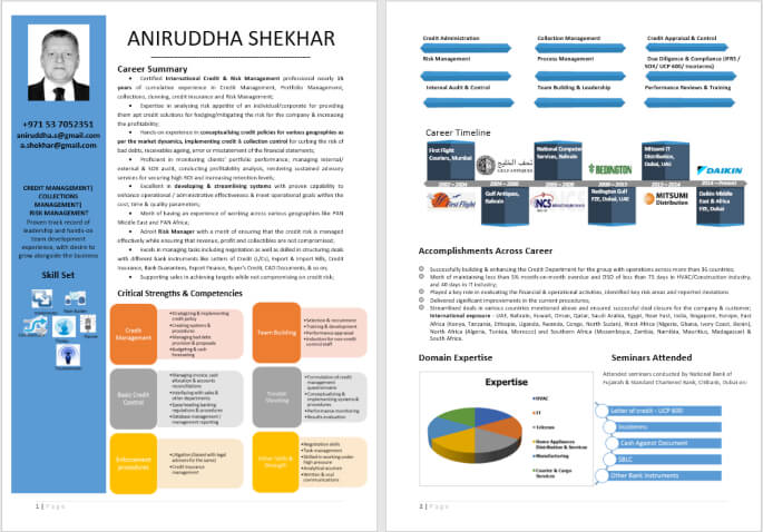 Good Visual Content Writing Resume Sample