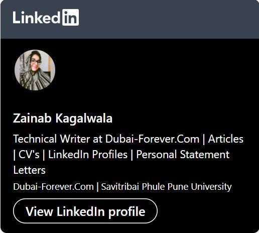 Zainab LinkedIn Profile URL